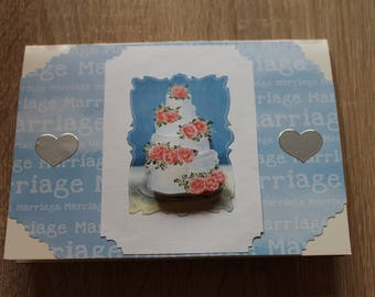 Paper Handmade Greeting Card Wedding Cake / Wedding / Just married / Marriage / Wedding Card /