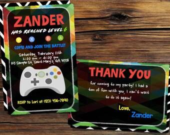 Gamer Birthday Invitation
