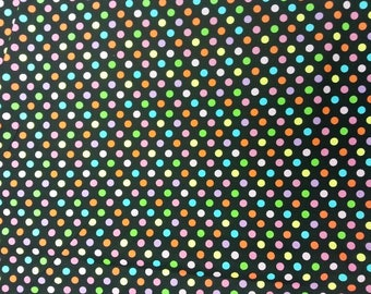 Multi Spot Fabric 100% Cotton Material By Metre Colourful Patchwork Cushions Bags Bunting
