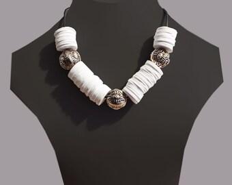 Foam rubber necklace