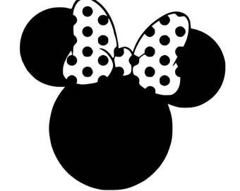 Minnie Mouse svg, Disney svg, cartoon svg, dxf, cricut, silhouette cutting file, download