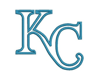 6 sizes - Kansas City Royals Embroidery Design,  Kansas City Royals Applique Design, Kansas Baseball Embroidery Design, Instant Download