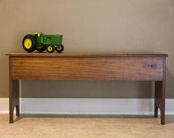 Hand Crafted Shaker Walnut Storage bench