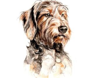 Custom pet portrait watercolor portrait pet. oil commission painting, animal wall art, home decor, dog, cat, horse original artwork fine art