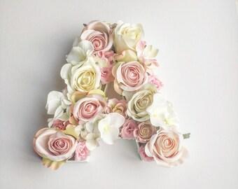 Wooden Floral Filled Letter