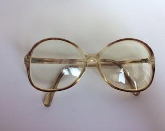 Women's Vintage Plastic Frames Eyeglasses Round 50s 60s Translucent Retro
