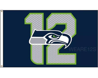 "Seattle Seahawks | ""12"" Outdoor Flag 
