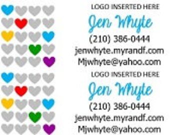 Catalog and Product Label Hearts Set of 60
