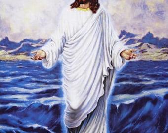 Windham Jesus FAITH Cotton Fabric Panel