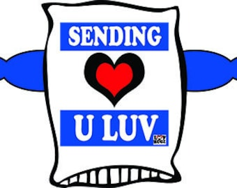Sending U Luv Luvhugz Pillow