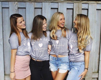 Womens Shirt, Business Shirt, Sorority T shirt, Brandy Melville, Big Little Sorority gift, Sorority personalized gift, Greek