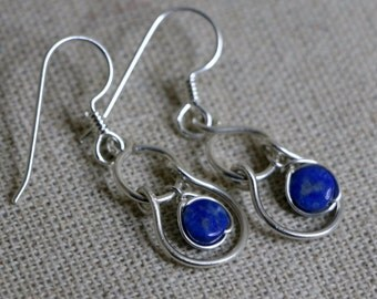 Sway Lapis Lazuli and Sterling Silver Earrings CLSE1