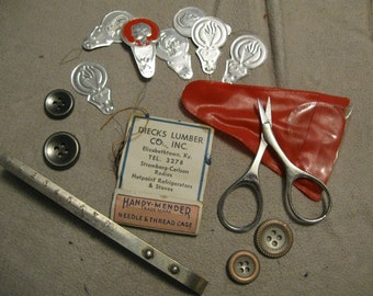 Vintage Sewing Lot Sewing Supplies  Sewing Notions free shipping in u s a