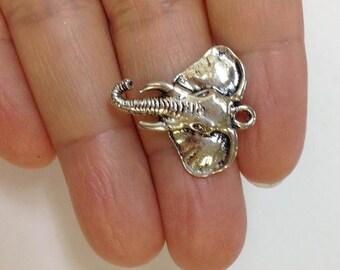 6 Elephant charm, Africa Elephant Charm, Indian Elephant Charm