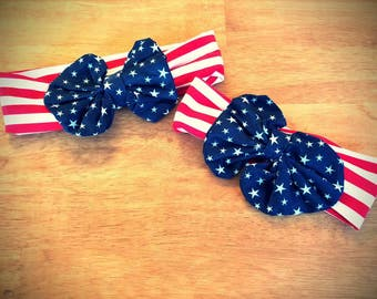 Mommy and me 4th of july bow headbands SUPER SALE