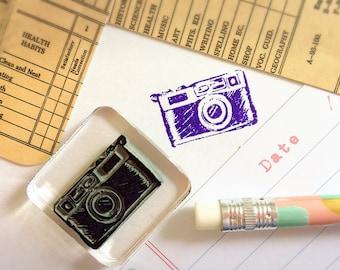 Old Camera Stamp ~ vintage camera rubber stamp, camera rubber stamp, diary stamps, planner journal accessories, planner accessories
