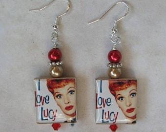 I Love Lucy Earrings