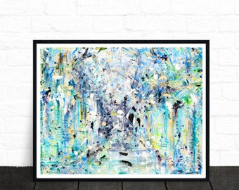 Abstract painting, poster art, ethereal, colourful wall art, abstract art print, modern art, wall art, fine art prints, contemporary art