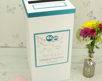Personalised Owls Wedding Post Box