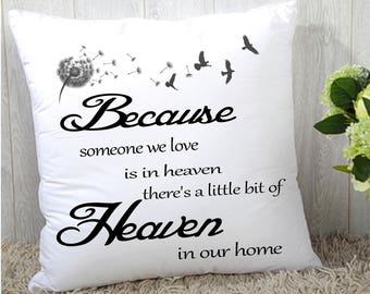 "Remembrance Memory cushion cover 16""x16"" (40cmx40cm) gift"