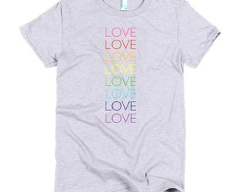 Love pride- women's shirt - lgbt, queer, love is love, equal rights