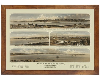 Swampscott MA, 1871; 24x36 inch print reproduced from a vintage painting or lithograph