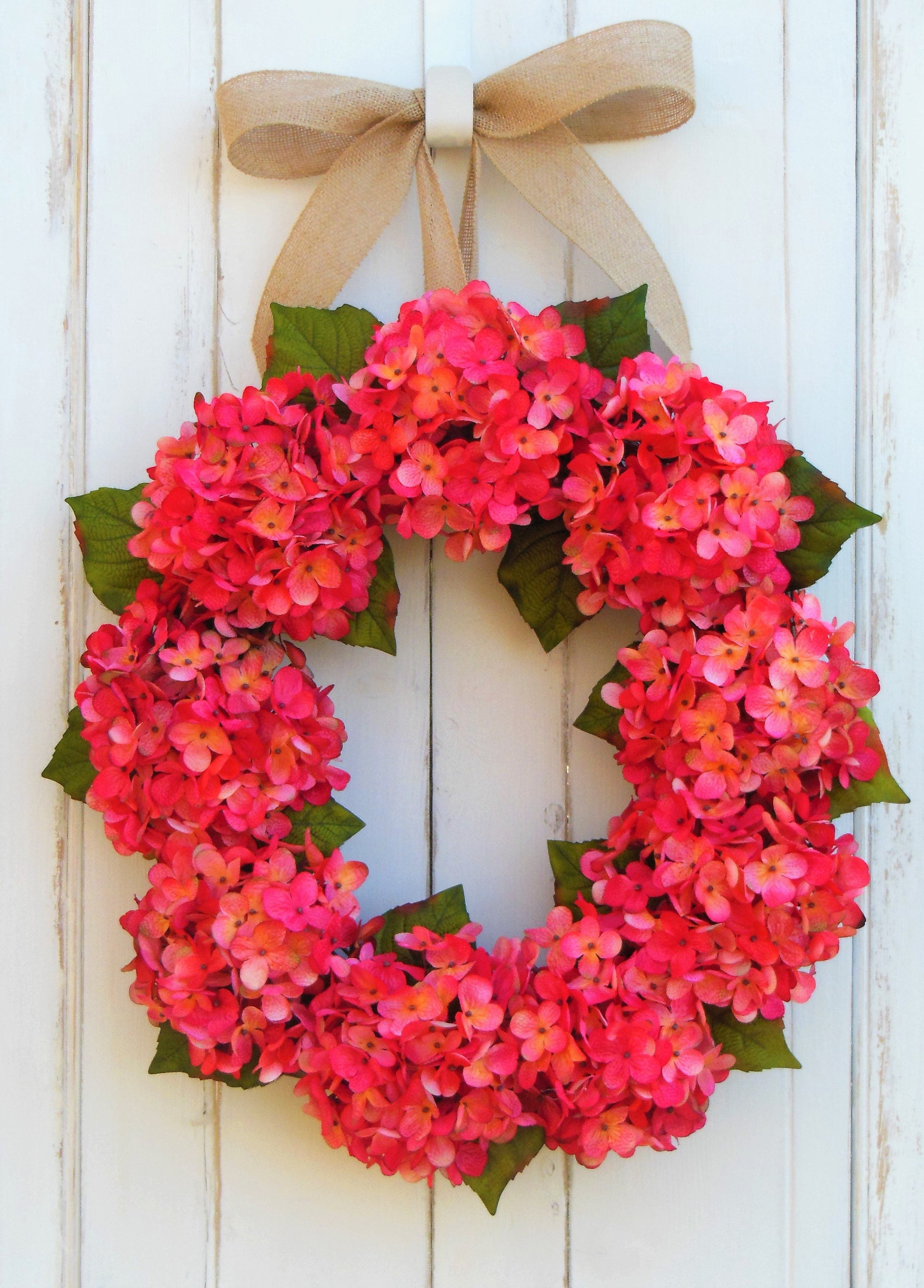 front door decor summerHydrangea Door Wreath Front Door Wreath Summer Wreath Spring