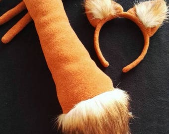 Fox costume / fox headband/fox tail / Kids fox costume / fox dress up/ handmade costume / Halloween costume