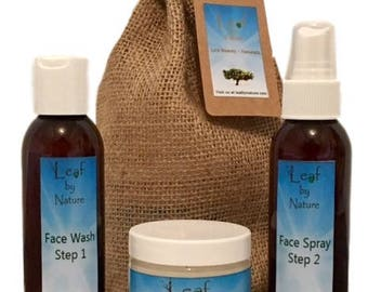 3 Step Face Cleansing Toning and Moisturizing Set