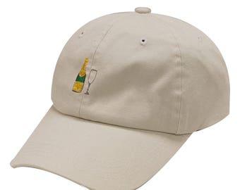 Capsule Design Champagne Cotton Baseball Cap Putty