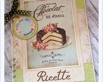 Shabby cookbook with customized pages