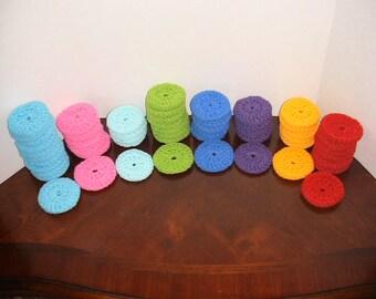 Scrubbie Pot Scrubber Nylon Dish Scrubber Crochet Non-scratch Cleaning Bathroom Kitchen Double Thickness Shower Loofah