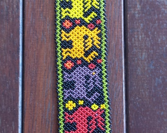 Huichol deer colourful bracelet