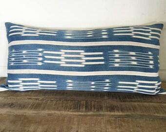 Vintage Baule Ikat Pillow Cover/ELIZE 24 x 12