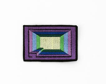 Bismuth Patch, Steven Universe Patch, Steven Universe Bismuth Patch, Crystal Gem Patch, Steven Universe Pin, Iron On Bismuth Patch