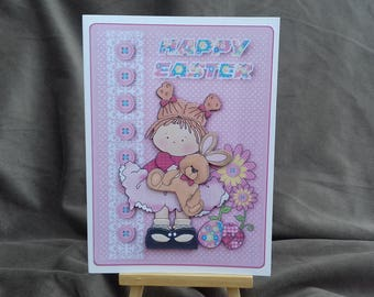Cute Easter card * Easter card * Kids Easter card