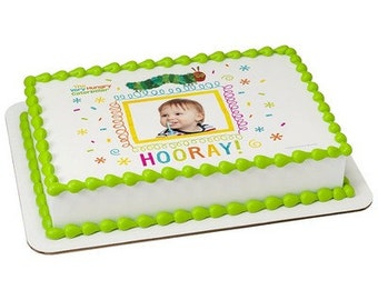 The Very Hungry Caterpillar Hooray! Picture Frame Edible Cake Topper