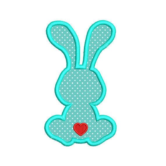 Bunny rabbit applique machine embroidery design easter
