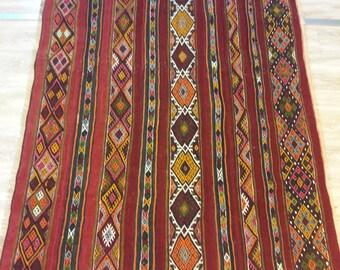 Handmade Anatolian Turkish vintage kilim rug