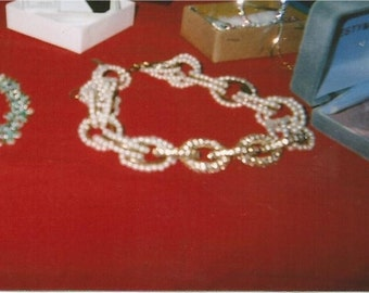 pearl necklace - costume jewellery