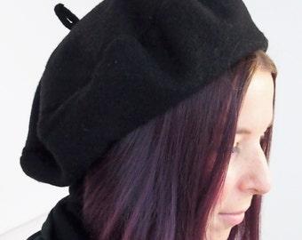 Classic beret black