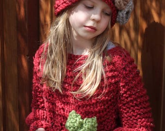 Chunky Knit Tunic, Knitted Tunic Dress, Chunky Knit For Girls
