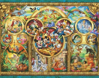 Disney Counted Cross Stitch Pattern | Extra Large Cross Stitch Chart | Maximum Size and Color | Cartoon Heroes | Printable PDF Download
