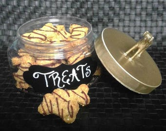 Gourmet Dog Treats // All Natural // Gluten Free Peanut Butter Dog Biscuit with Carob Icing No Preservatives