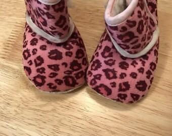 Pink Animal Print Boots