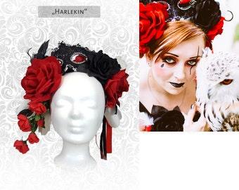 """Headdress """"Harlequin"""" flower head dress"""