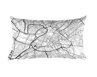 Manchester Pillow, Manchester Decor, Manchester Cushion, Manchester Throw Pillow, Manchester Gift, Manchester England Map, Manchester Art