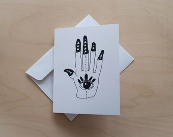 Palm Insight Illustrated Greeting Card