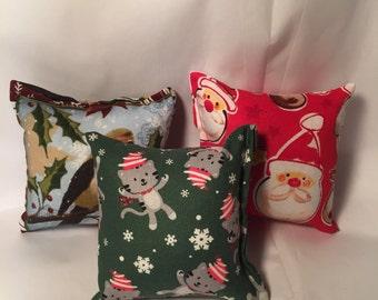 3 - Handmade holiday catnip pillow toy