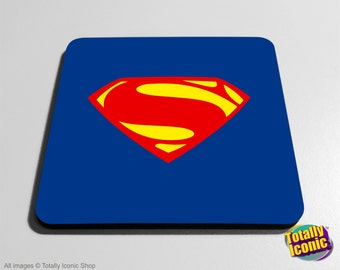 Superman Drinks Coaster Mat -Comic Book Super Hero, Inspired by the film series &  comic - Man of Steel